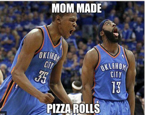 :)Thunder, James Harden, Memes, Sports, Kids, So Funny, Pizza Rolls, Kevin Durant, Feelings