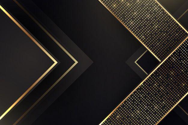 Elegant Dark Background With Golden Details Transparent Wallpaper Gold Glitter Background Black Paper Background