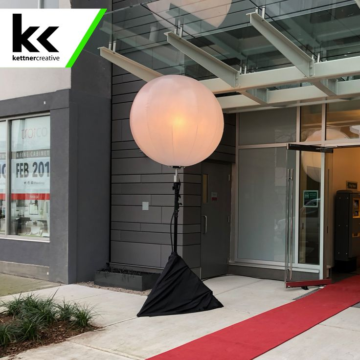 Balloon lighting adds a luxury feel to this VIP party in Vancouver BC.