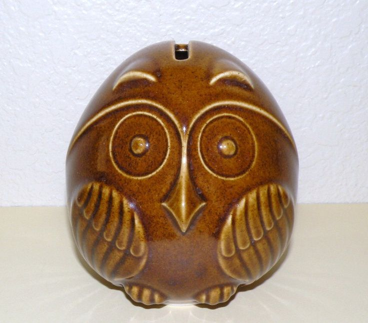 1970s Pottery OWL Bank with Cork Stopper by Klassyglassandmore on Etsy https://www.etsy.com/listing/168844685/1970s-pottery-owl-bank-with-cork-stopper