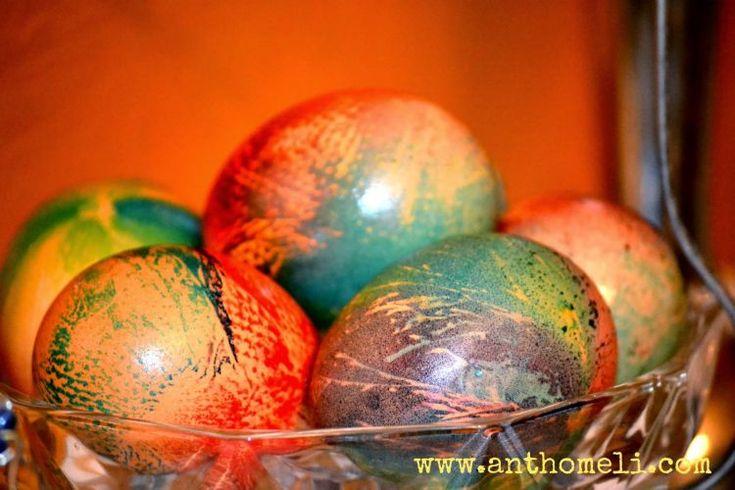 Πασχαλινά αυγά βαμμένα με εναλλακτικούς τρόπους (μέρος α΄) - Anthomeli