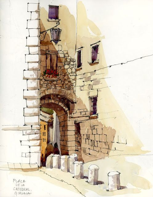 urban sketchers Shari Blaukopf | Shari Blaukopf - After Barcelona (Urban ... | sketches / moleskine                                                                                                                                                      More