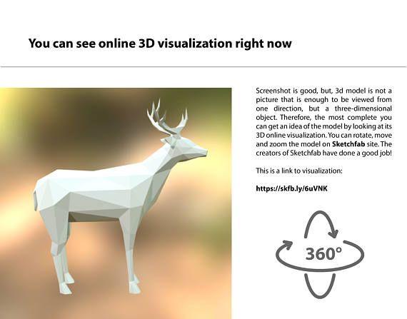 Deer 3d Model For 3d Printing Format Stl 3dprinting Design Prints 3d Printing