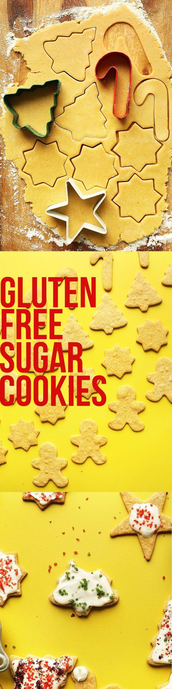 EASY Gluten Free Sugar Cookies! No eggs, no dairy, NO BUTTER!
