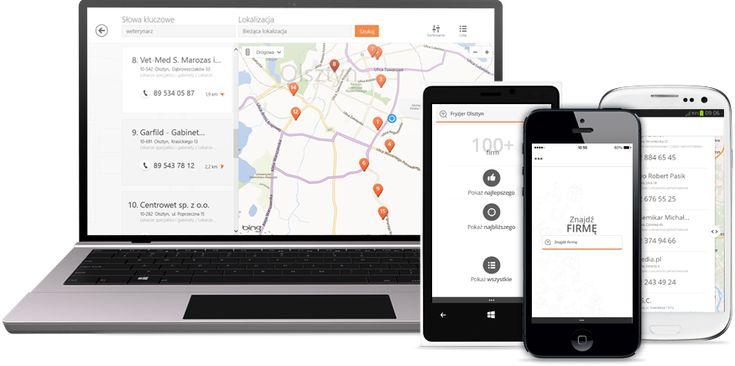Nowa aplikacja z lokalizatorem firm.