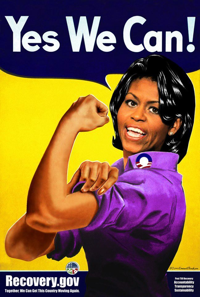 Yes we can!: Lady Michelle, Politics, First Ladies, Michelle Obama, Things, Rosie The Riveter, People, Michelleobama, Flotus