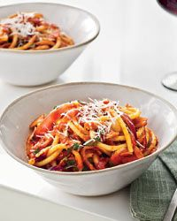 Try w/ pancetta! Bucatini all'Amatriciana // More Italian Pastas: http://www.foodandwine.com/slideshows/italian-main-dishes #foodandwine