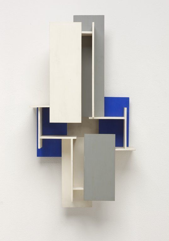 'Synthesist Construction W XIV 2d.' (1964-66) by Dutch artist Joost Baljeu (1925-1991). Mahogany, paint, 28.5 × 16 × 8.25 in. collection: Walker Art Gallery. via ArtsConnectEd