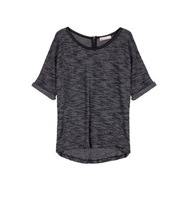 Shortsleeve melange blouse