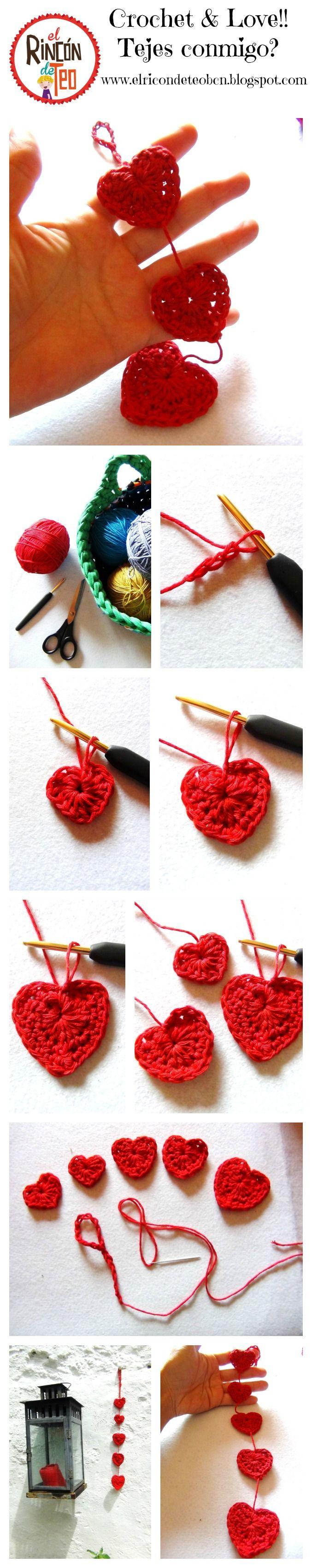 Buenos días!!! Hoy venimos con otro #tutorial de #Ganchillo en el Blog!!! Esta vez una Guirnalda de Corazones!! Bien facilísima para Crocheteras Principiantes!!! si te gusta comparte!!! Yepaaaa!! http://goo.gl/8FtRGa #tutorialganchillo #tutorial #tutorialcrochet #corazón #guirnaldacorazones #heartsbanner #diycrafts#diyhomedecor  www.elrincondeteobcn.blogspot.com