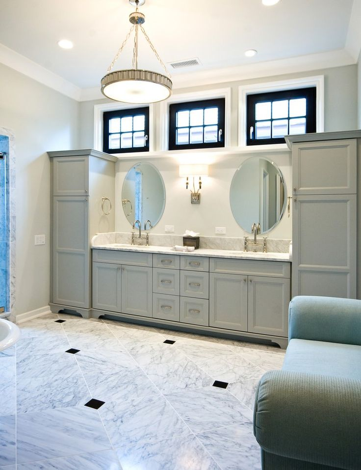 60 Vanity Double Bathroom Contemporary with Mark Newman Traditional Floor Mirrors