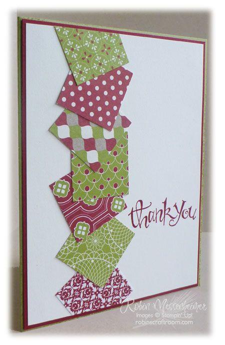 SU! Sassy Salutations stamp set; Festival of Prints DSP stack - Robin Messenheimer