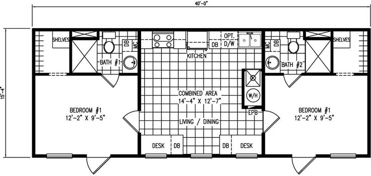 25 best ideas about mobile home floor plans on pinterest for 16 x 40 mobile home floor plans