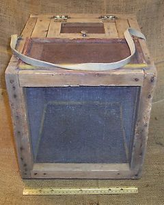 Primitive Wooden Cricket Cage Box Home Made Old Antique