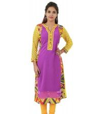 Product details : http://www.sirnmaam.com/women/clothing/kurtis-ladies/purple-georgette-kurti-snm-2210/