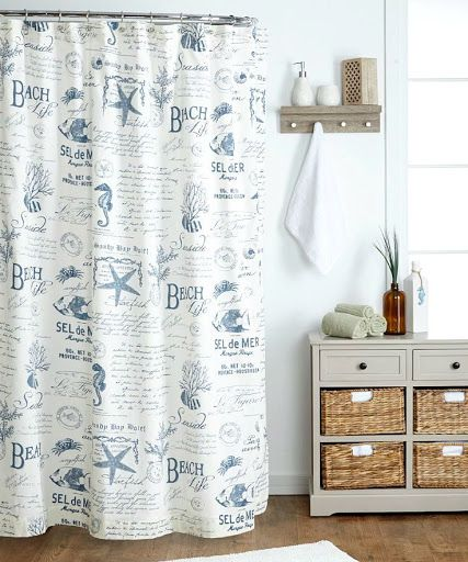 curtains on pinterest beach shower beach decorations and sea theme