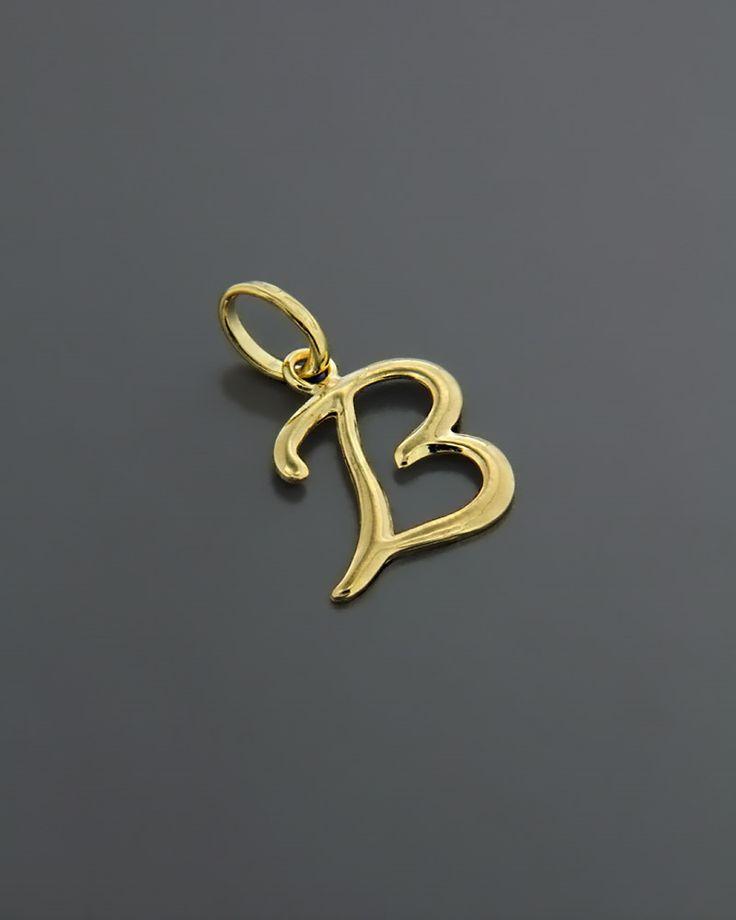 """Μονόγραμμα """"B"""" Χρυσό Κ18"""