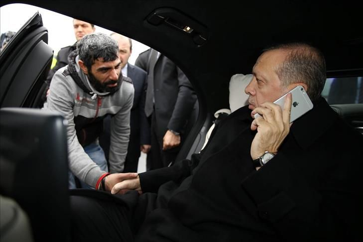 AA - Security guards of Turkish President Recep Tayyip Erdogan prevent suicide attempt on the Bospor