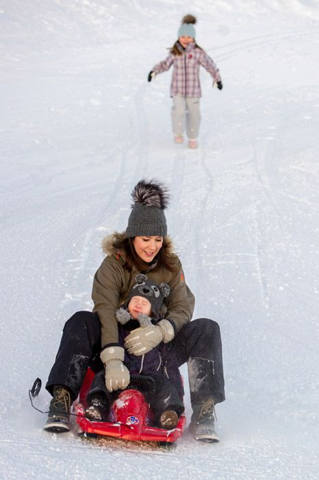 Princess Mary & youngsters #danish #royal #snow - Loved by @demarkhouse