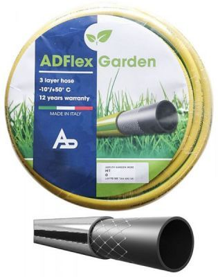 tubo gomma giardino canna acqua 3/4 x 25 mt  MADE IN ITALY  rinforzato irrigazione casa orto giardino cantiere
