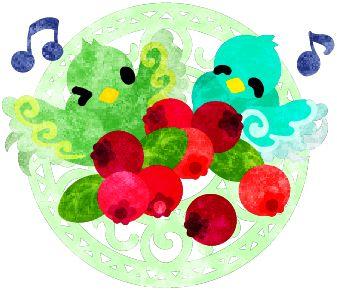 フリーのイラスト素材不思議な模様の可愛い小鳥達と赤い果実  Free Illustration The cute little birds of mysterious design and red berries   http://ift.tt/2jgBrzA