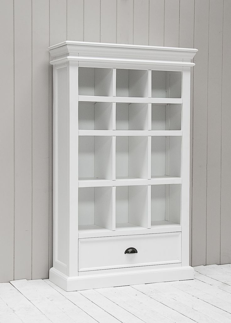 richmond painted pine bookcase dvd cabinet with drawer