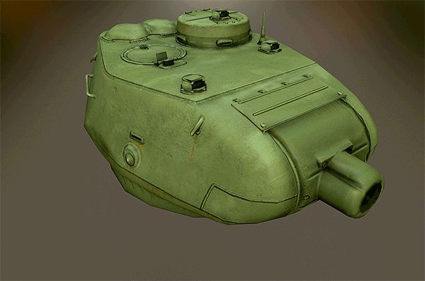 Lowpoly Turret for T-34-85 (Factory N.183) on Behance