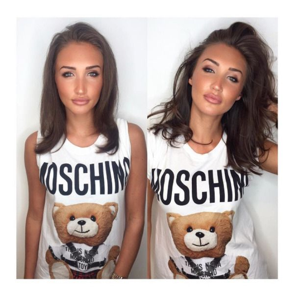 TOWIE star Megan McKenna shows off her new hair extensions on Instagram, 12 September 2016