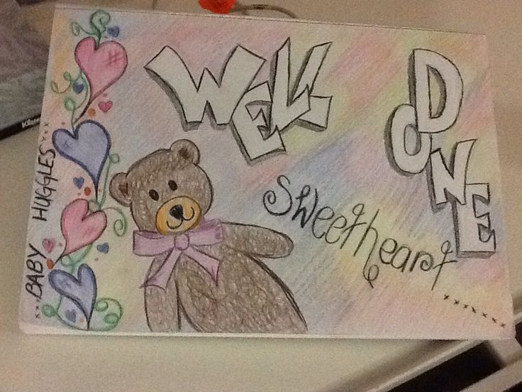 Drew this for my daughter during a hospital stay she had