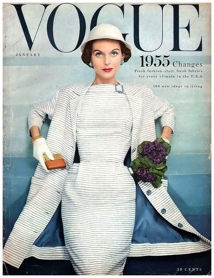 Vogue January 1 1955 Anne St Marie Photo Erwin Blumenfeld