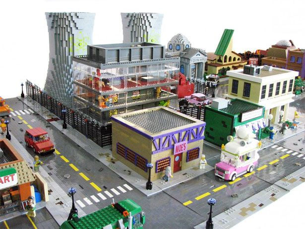 Springfield Recreated With LEGO