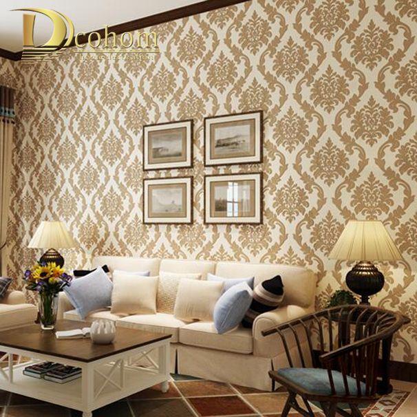 Simple Nonwoven Modern Luxury Damask Wallpaper For Walls 3 D European Living  Room Sofa TV Embossed Part 78