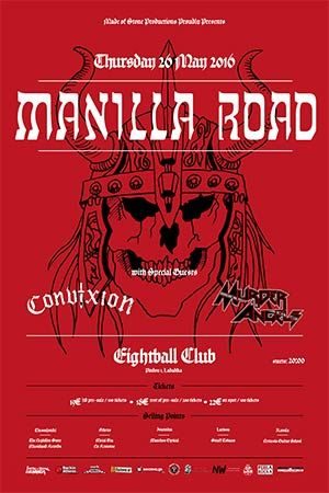 MANILLA ROAD ± Eightball Club, 26/05/2016  #live #gig #event #metal #news
