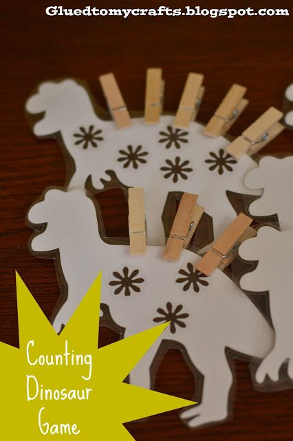 Counting Dinosaur Game {Busy Bag Activity}