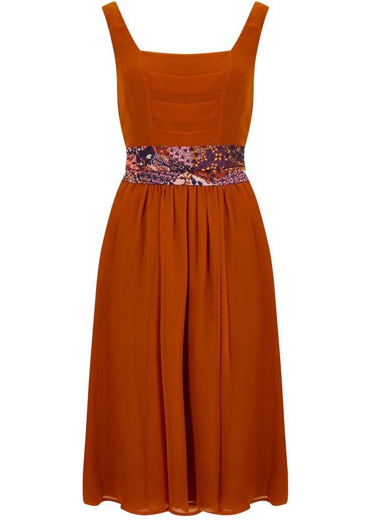 Bright & Beautiful Eden 70's Jurk Oranje dress orange 1970s vintage look hippie hippy ethnic