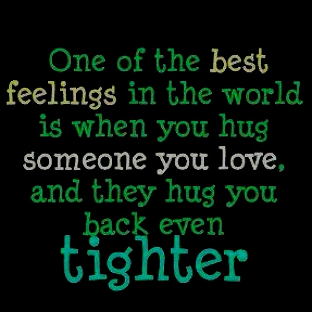 so sweet are those hugs:)