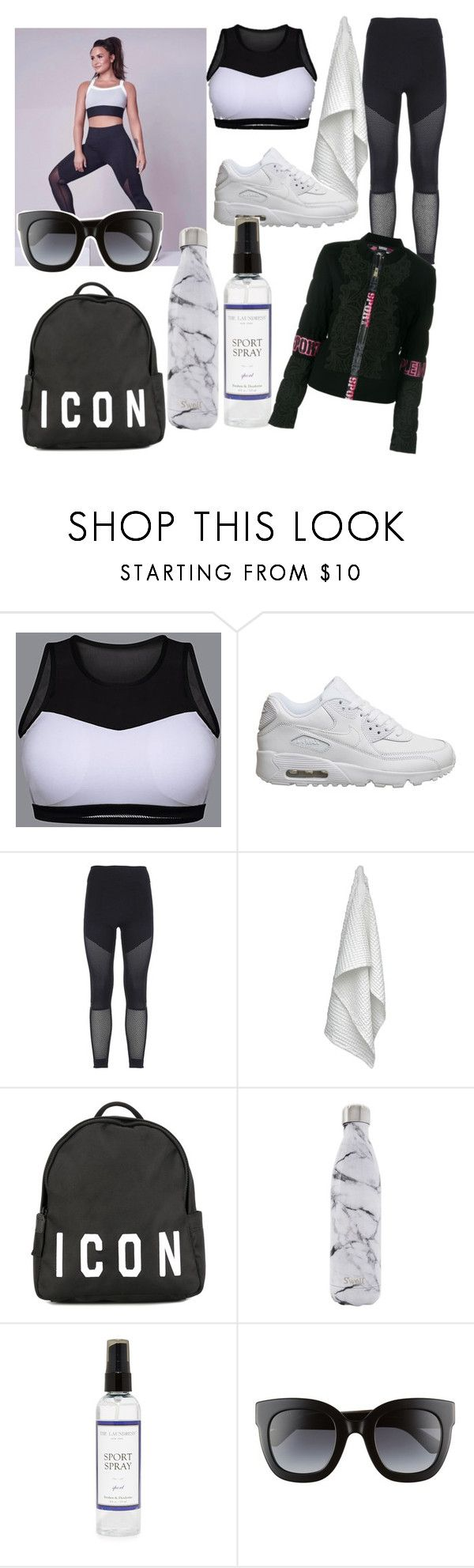"""sport"" by aliaalsadoon ❤ liked on Polyvore featuring NIKE, adidas, The Organic Company, Dsquared2, S'well, The Laundress, Gucci and Plein Sport"