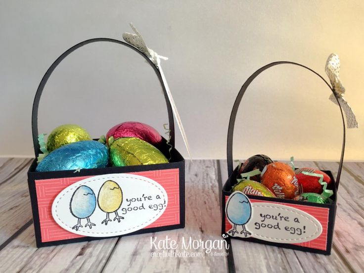 Easter Treat Baskets Using Stampin Ups Hey Chick Stamp Set By Kate Morgan Independent Up