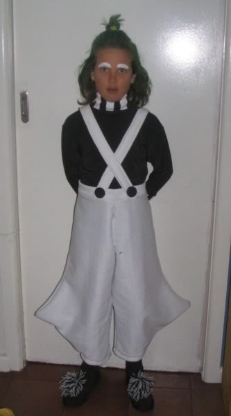 oompa loompa costume for book week