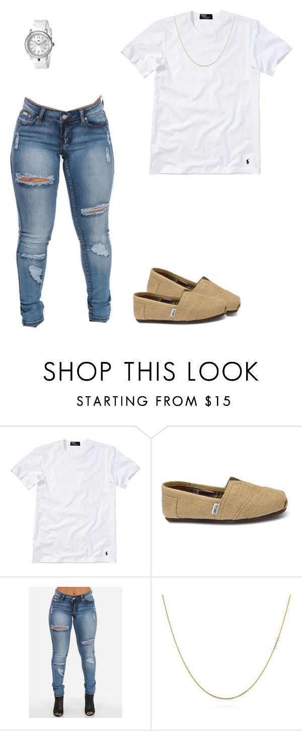 """""""Untitled #214"""" by destinygotem ❤ liked on Polyvore featuring Polo Ralph Lauren, TOMS, BERRICLE and Tommy Hilfiger"""