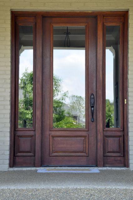 Full Glass And Wood Front Door
