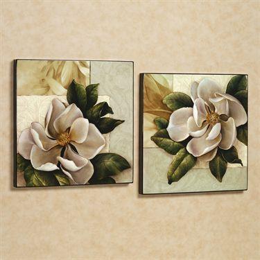 REP. HEALTH - Bella Magnolia Wooden Wall Art Set