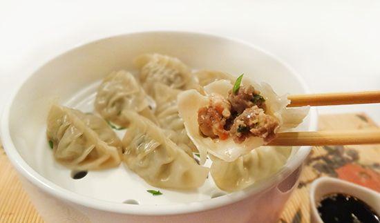 Цзяоцзы со свининой и креветками (Jiaozi – 饺子)