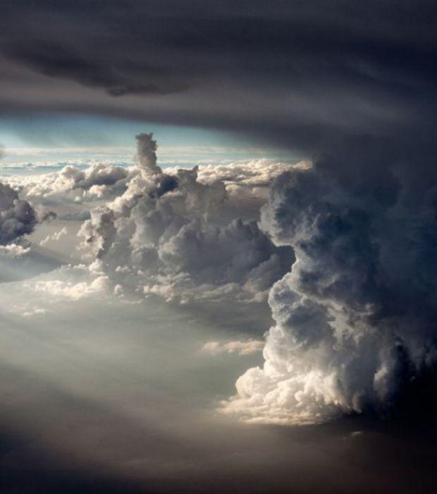 Une zone de nuages mammatus dans le ciel du Texas en juin 2013