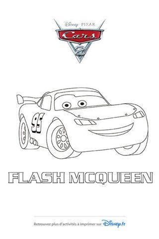 Les 126 meilleures images du tableau flash mcqueen sur - Coloriage cars flash mcqueen ...