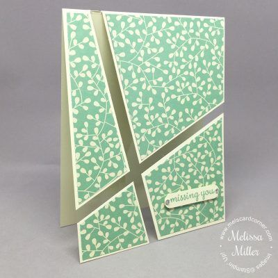 handmade card from Mel's Card Corner ... Missing You Acetate Card ... clear acetate fills the design lines ... clean and simple ...