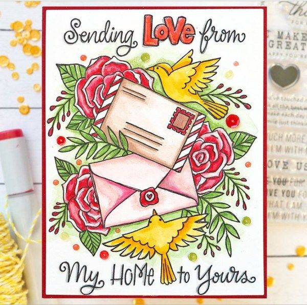 Watercolor Coloring Page Cards Card Making Dies Unicorn Card Free Coloring Pages