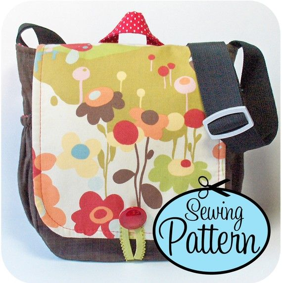 Sewing Pattern to Make a Messenger Bag - PDF Pattern (Email Delivery)