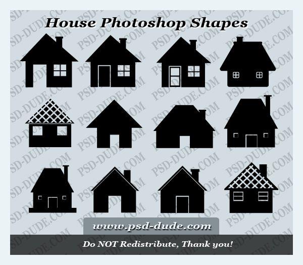 House Photoshop Shapes