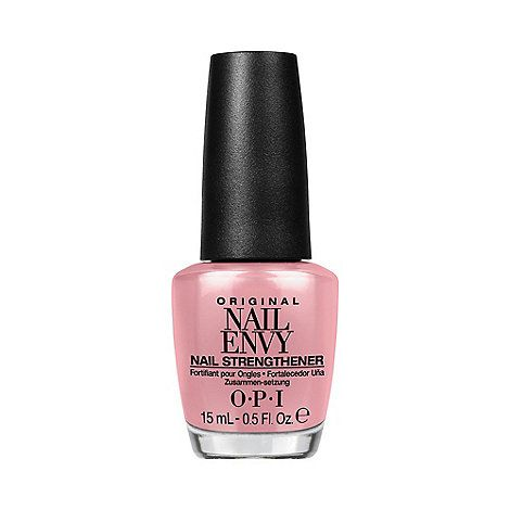 OPI is a professional quality polish that is chip resistant, high gloss and easy to apply. OPI nail polish shades contain no dibutyl phthalate, toluene or formaldehyde and each includes OPI's exclusive ProWide brush for the ultimate application. The fortifying power of OPI's original 'Nail Envy' nail strengthener is now combined with softly tinted colour in 4 gorgeous OPI shades. The trusted formula you love from the world's no. 1 salon brand, OPI has added delicate, subt...